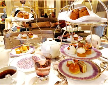 Le tea time de l'hôtel de Crillon