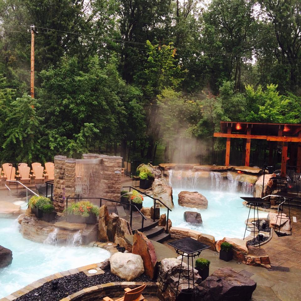 spa, baths, waterfalls, nature