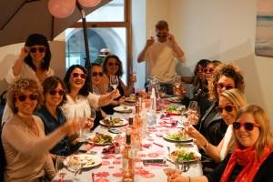 wines workshop, wine bottles and food