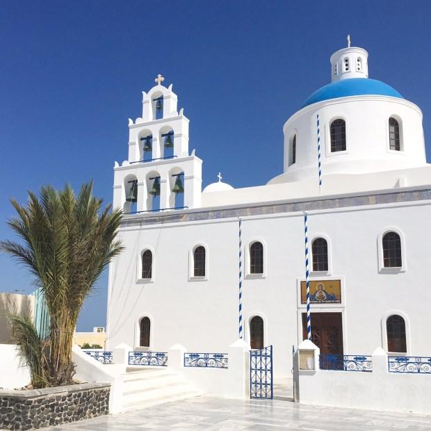 Greek Church in Oia Santorini