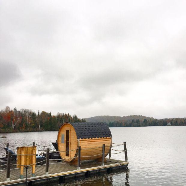 nature, lake and sauna