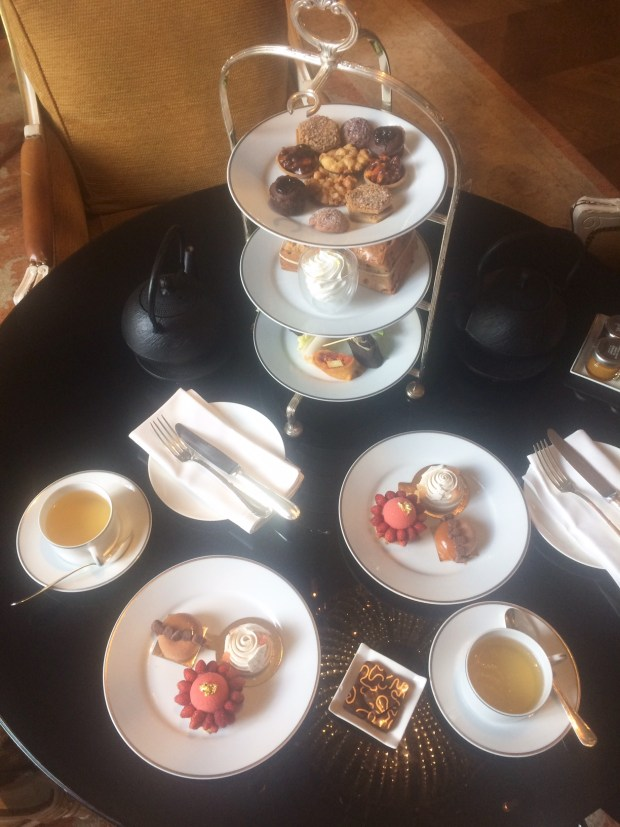 vegan afternoon tea, pastries and tea
