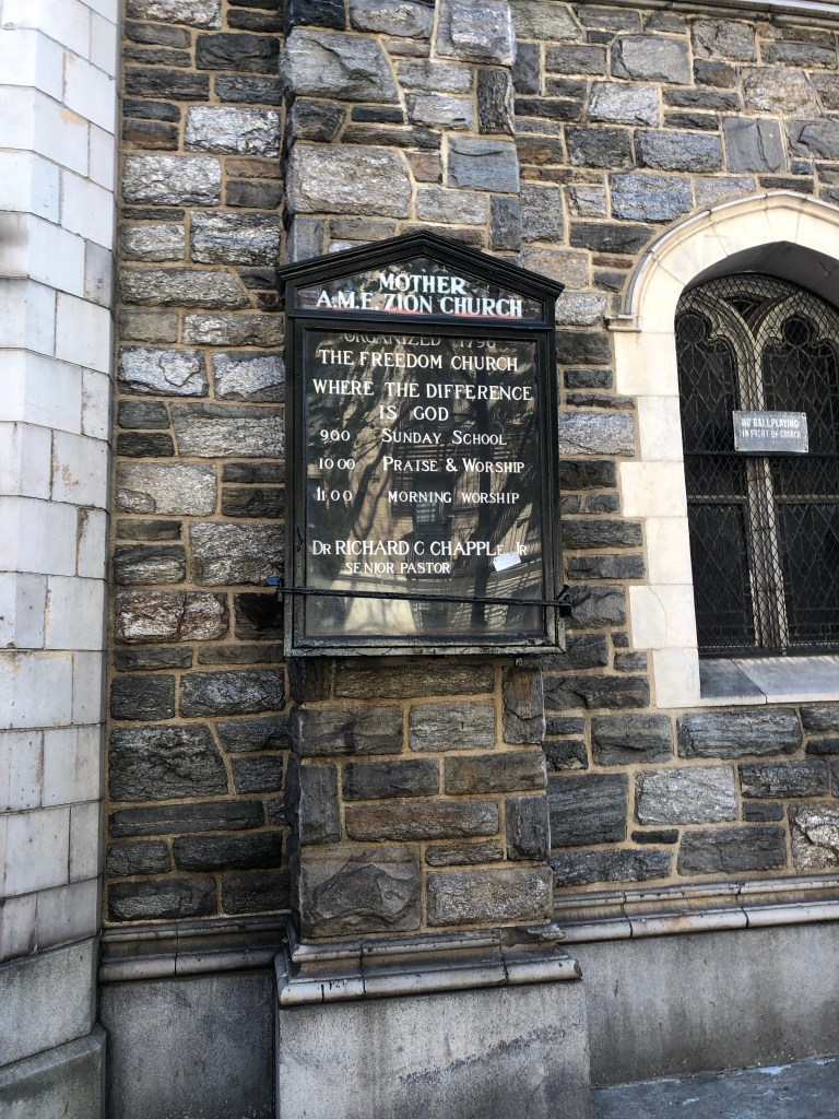 Mother AME Zion Church Sign