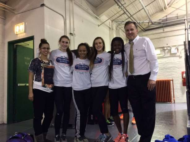 Flanking the girls in the picture is Assistant Coach Selena McLaren and Coach Martin Brown