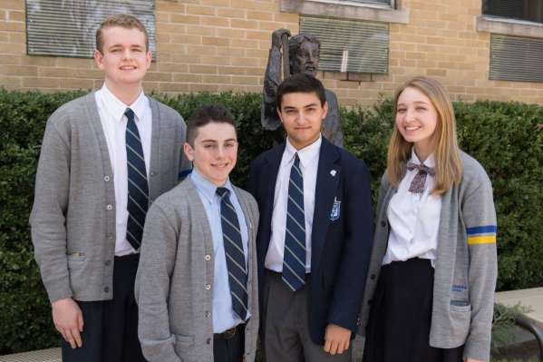 From L to R: James Perrone, James Hilepo, Harrison Keller, and Caitlin Gaine