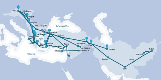 Reiserouten nach Europa