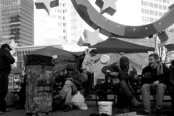 Abb. 5: Occupy Frankfurt vor der EZB