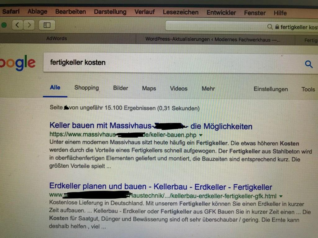 Fertigkeller Massivhaus google