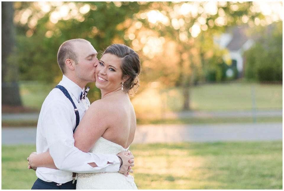 Golden Hour bride and groom portrait