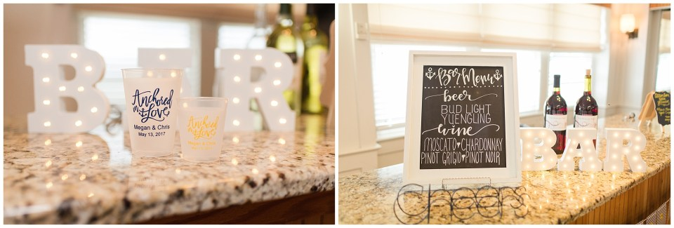 anchor wedding details and marquee signs