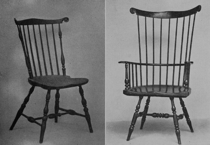 early american chair styles arm covers argos craftsmen chapter 4 at the left a good example of fan back side new jersey style right armchair like low windsor with