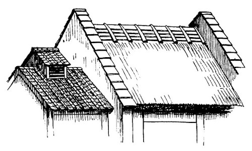 Roof Sketch & RIDGE OF SHINGLE-ROOF IN MUSASHI Sc 1 St