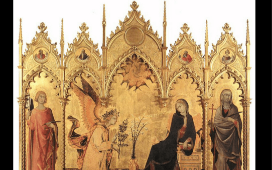 Simone Martini's The Annunciation