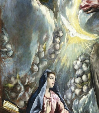 detail from El Greco's Annunciation