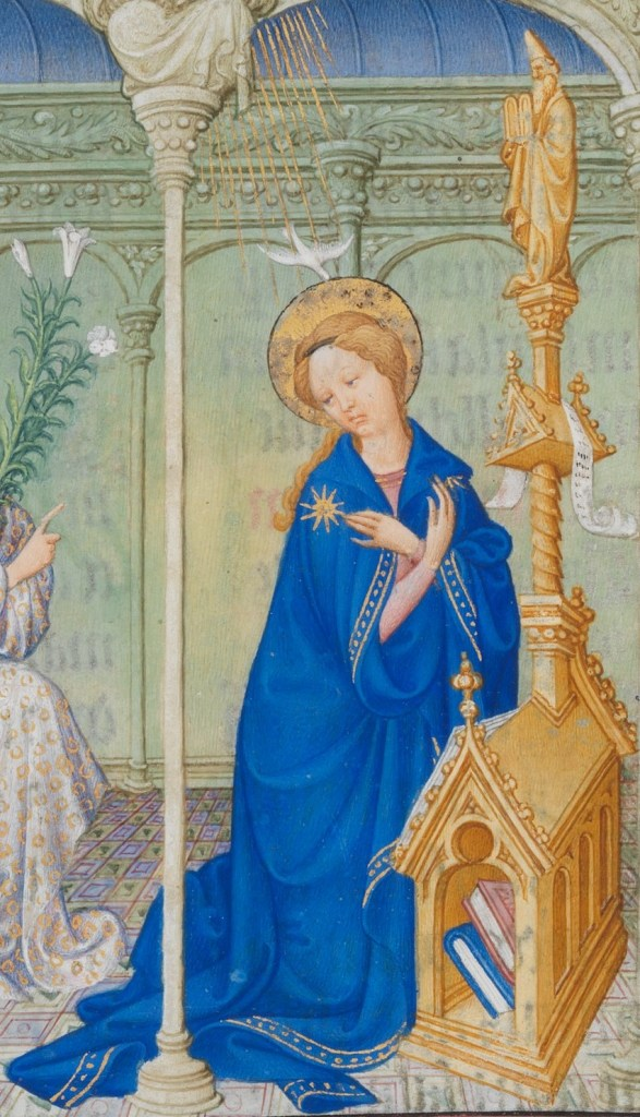 Detail of Mary in the Limbourg Brother's Annunciation