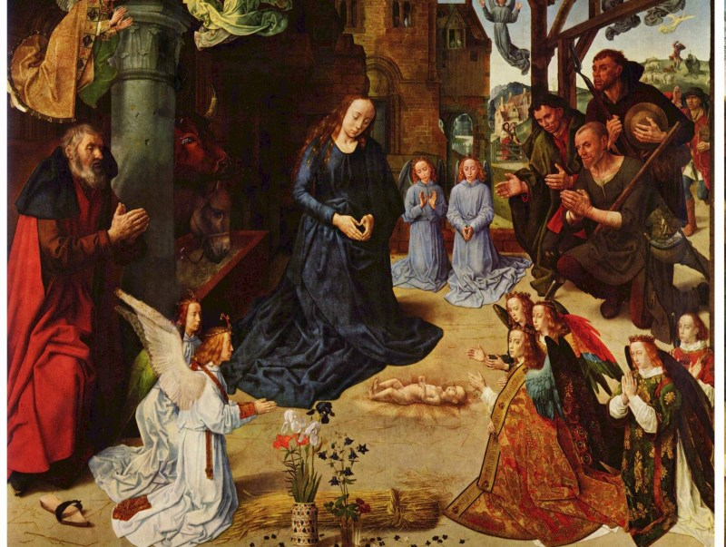 Hugo Van Der Goes Nativity scene from the Portinari Altarpiece