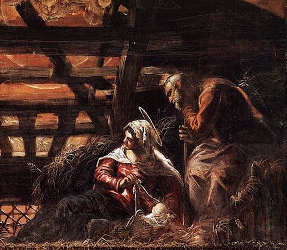 Detail from Tintoretto's nativity