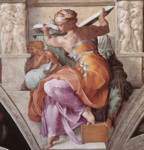 Libyan Sybil from the Sistine Ceiling, Michelangelo