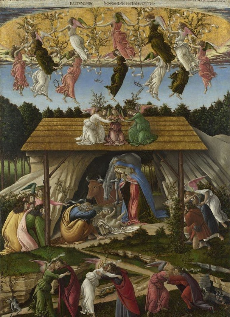 Sandro Botticelli, The Mystic Nativity, 1500. The National Gallery in London