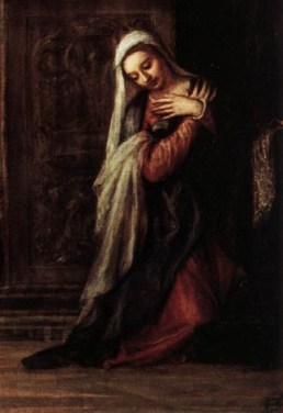 Detail from Titian, the Annunciation