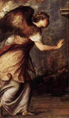 Detail from the Annunciation by Titian