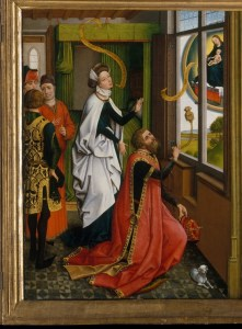 Detail from the Van Der Weyden Nativity