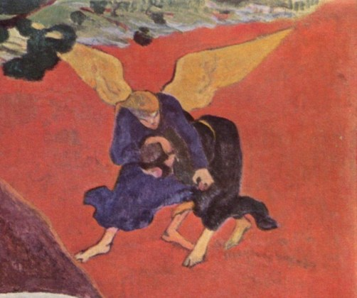 Detail from Gauguin's vision after the sermon