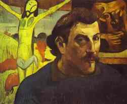 Gauguin, Self Portrait in front of the Yellow Christ