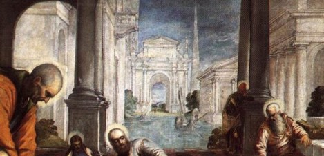 Detail: Christ Washing the Disciples' Feet - Tintoretto