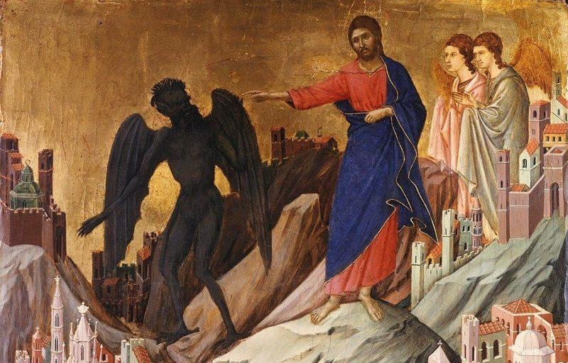 Duccio's The Temptation of Christ