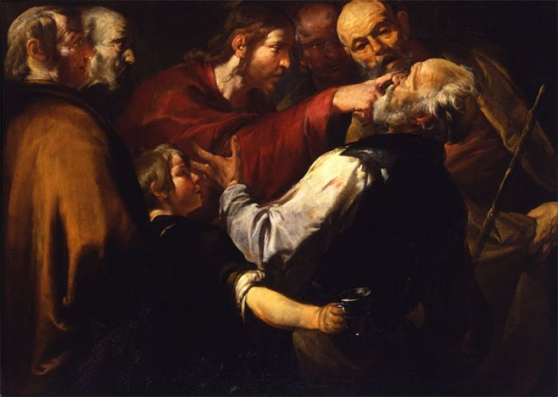 Assereto, Christ healing the blind man