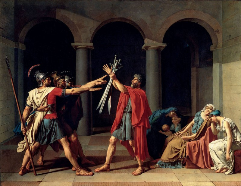 Jacques Louis David's Oath of the Horatii