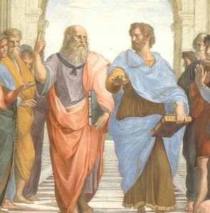 Detail from Raphael's School of Athens