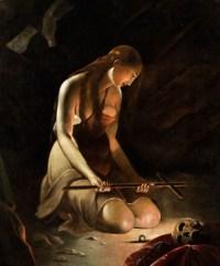 De La Tour's Magdalene contemplating the cross