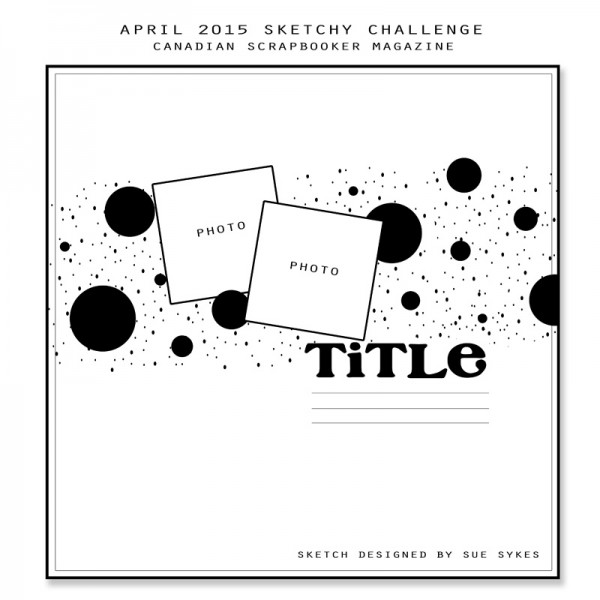 April Sketchy Challenge Layout
