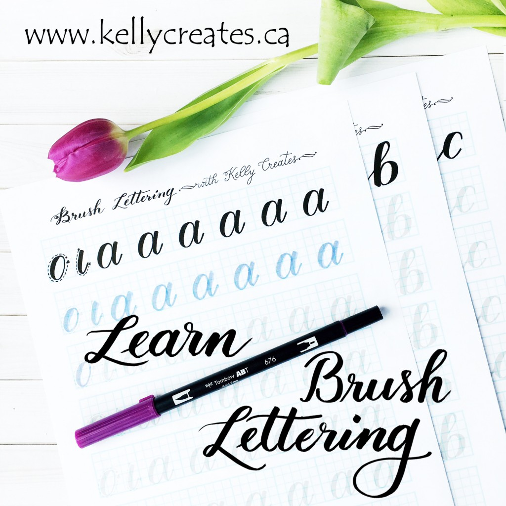 Learn Brush Lettering With Practice Worksheets Kelly Creates
