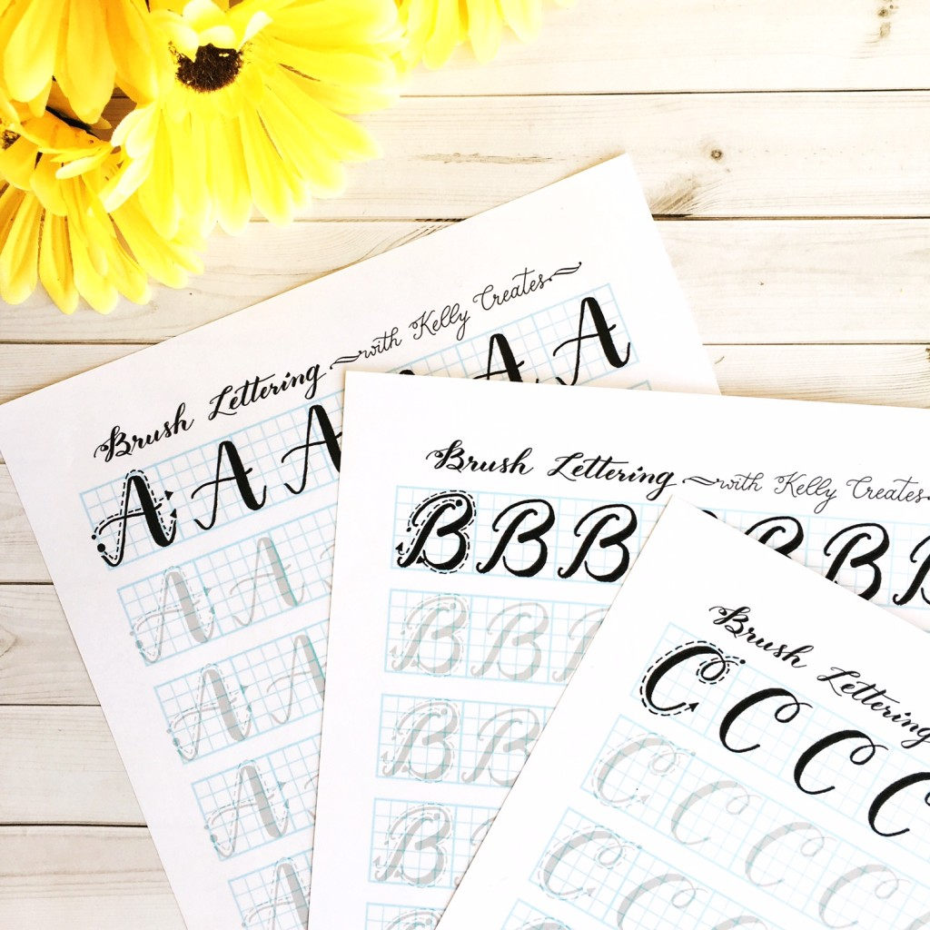 Capital Letter Brush Lettering Practice Sheets Now