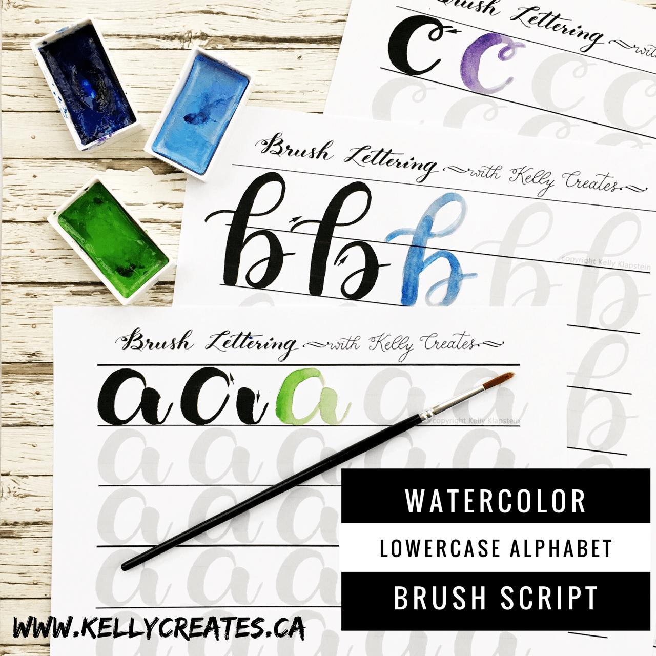 Watercolor Brush Lettering Worksheets Have Arrived