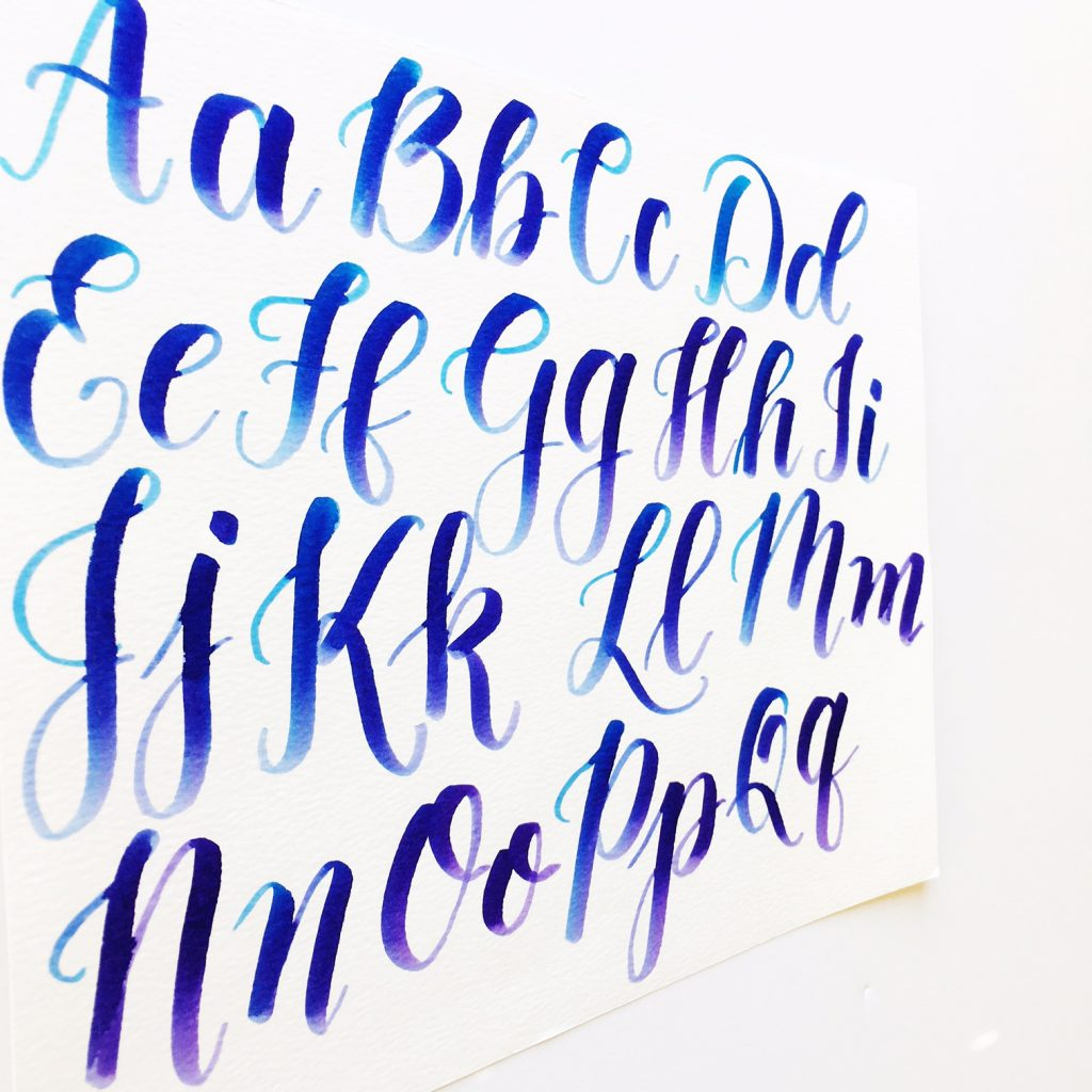 Calligraphy With Capital Letters Video Amp Freebies Kelly