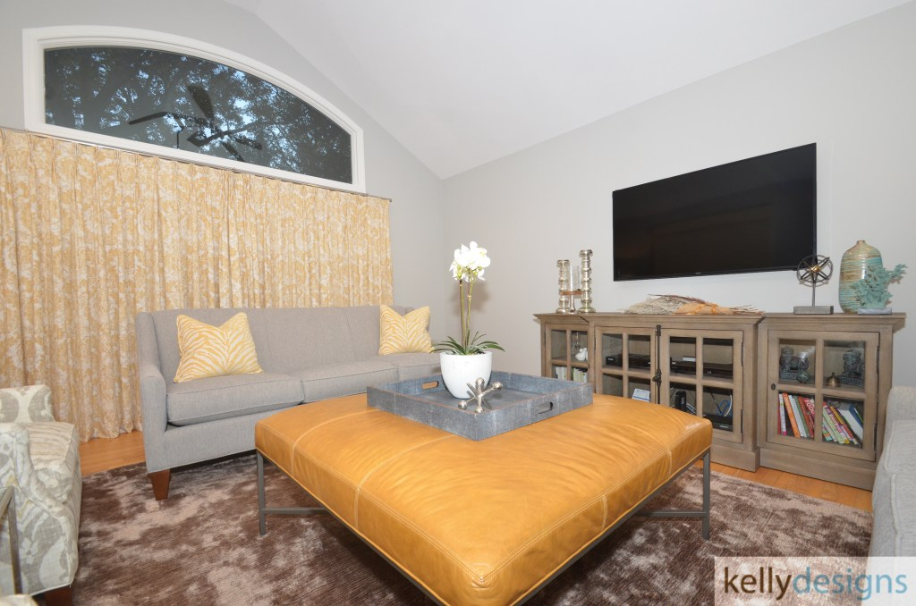 Renewed, Refreshed and Lovely on Linley - Family Room - Interior Design by kellydesings