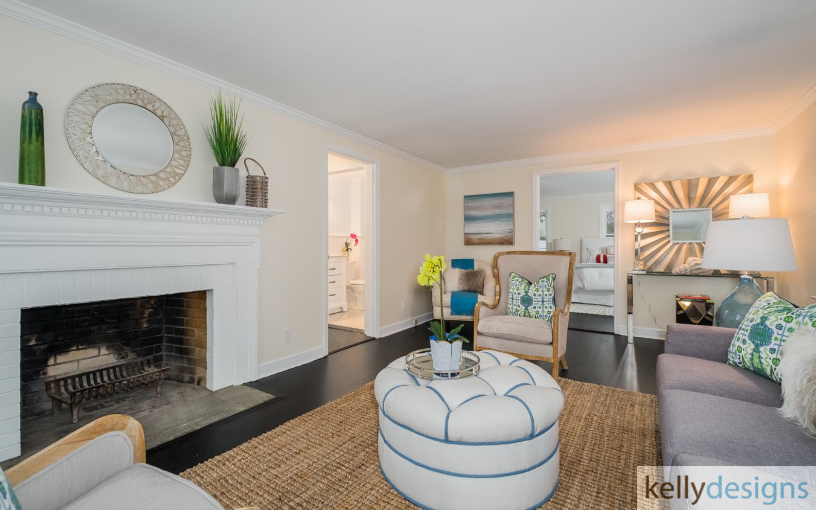 Staging Somerset - Family Room - Home Staging by kellydesigns
