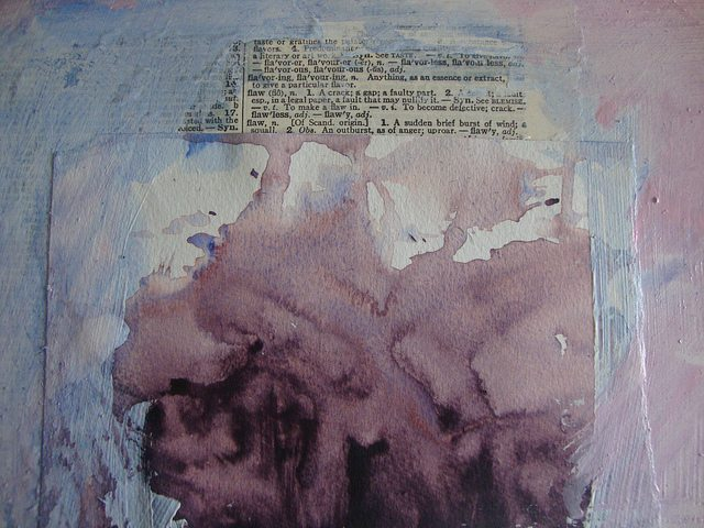 Flaw: From Poem to Mixed Media Art #2 by Julie Jordan Scott
