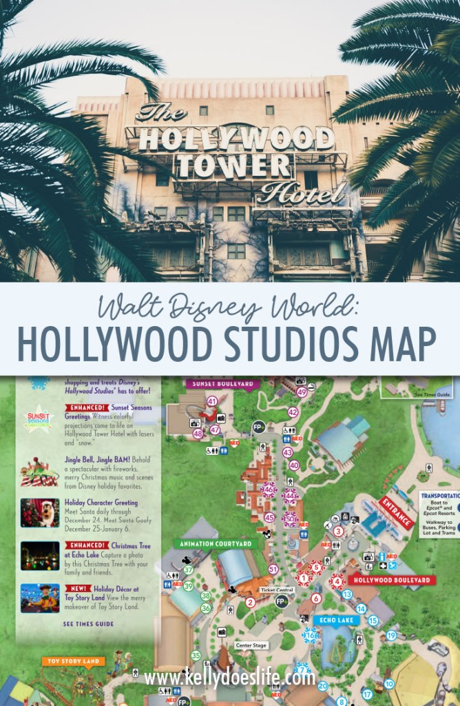 Hollywood Studios Map Walt Disney World - Kelly Does Life