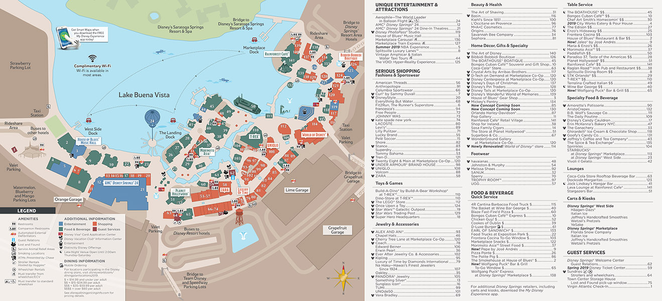photo about Disney Printable Maps named Disney Springs Map Walt Disney Planet - Up-to-date August 2019!