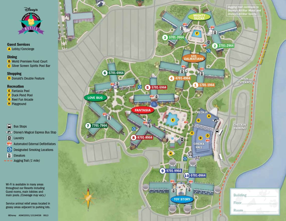 All Star Movies Resort Map for Walt Disney World!