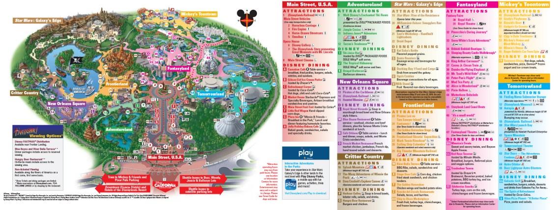 Disneyland Park Map Updated In July 2021