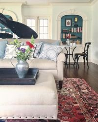 Red Oriental Rug Living Room