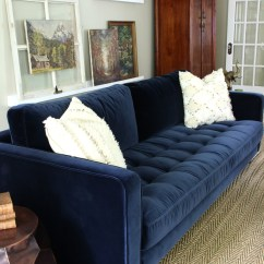 Navy Blue Velvet Sofa How To Build A Bed Is Neutral New Kelly Elko Love This Gorgeous Article Sven In Kellyelko Com