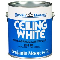 258-01 GALLON WHITE BENJAMIN MOORE MURESCO CEILING PAINT