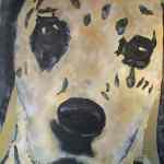 Dalmation dog painting - acrylics on canvas - Kelly Goss